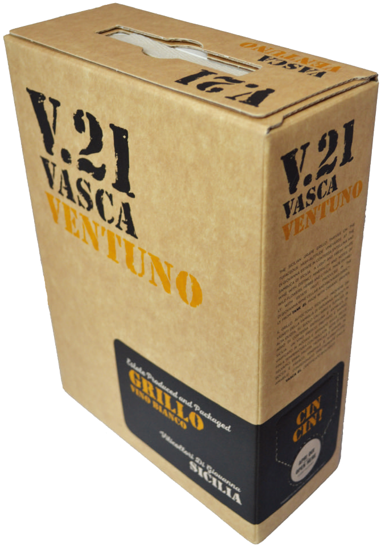 V.21 Vasca Ventuno Grillo Vino Bianco 3000ml Bag in Box 2016