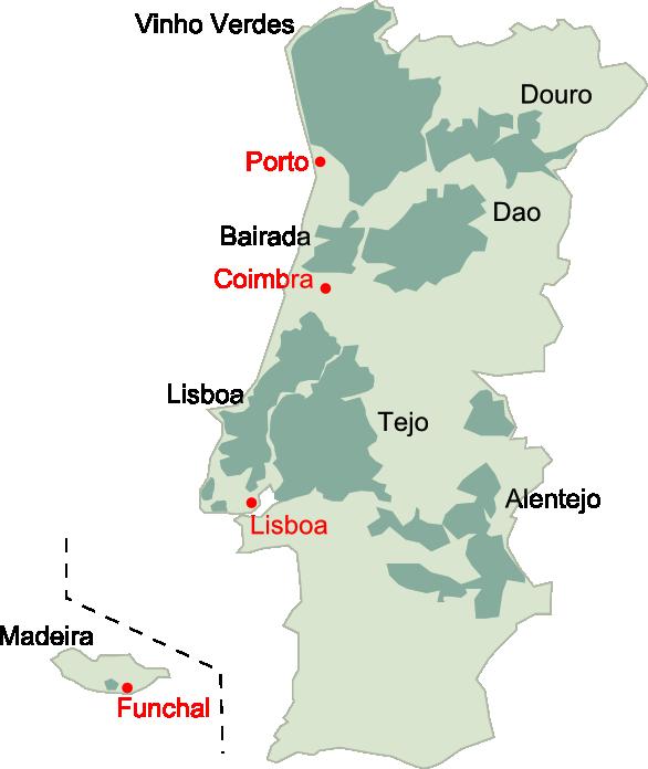 ポルトガルワイン産地